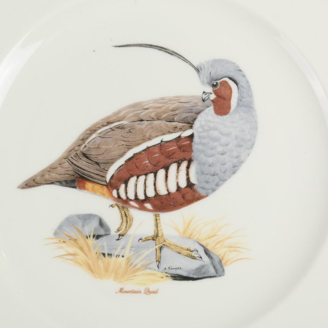 14 Ceramic Bird Decorated Plates - 5