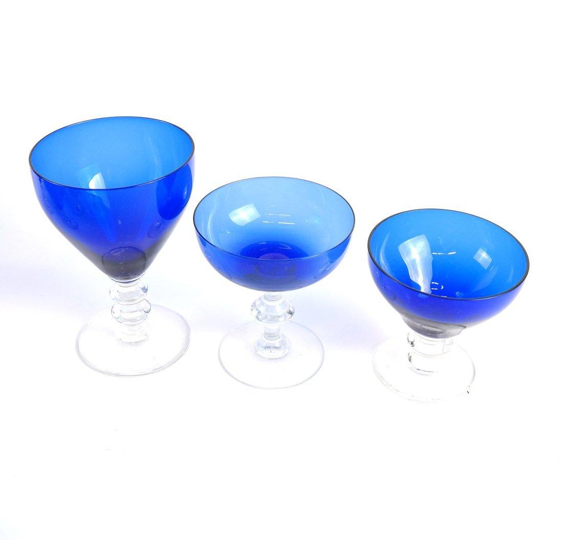 15 Blue Glass Drinking Vessels - 2
