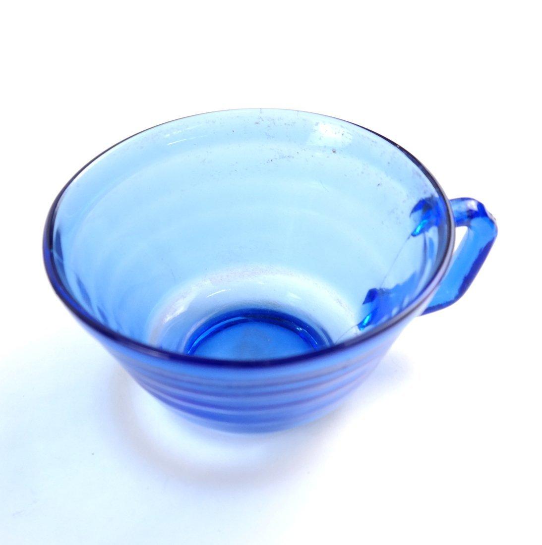 15 Blue Glass Drinking Vessels - 3