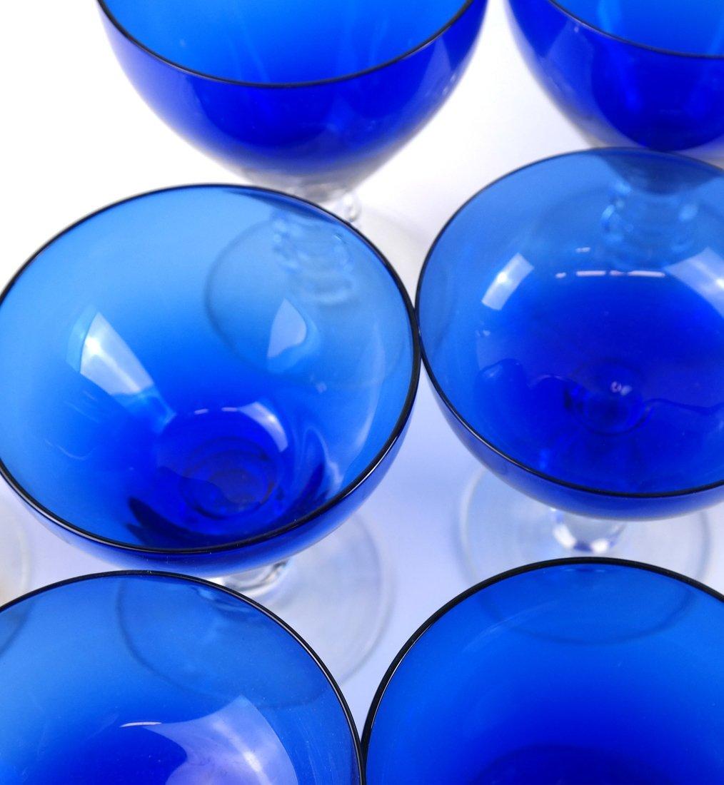 15 Blue Glass Drinking Vessels - 5