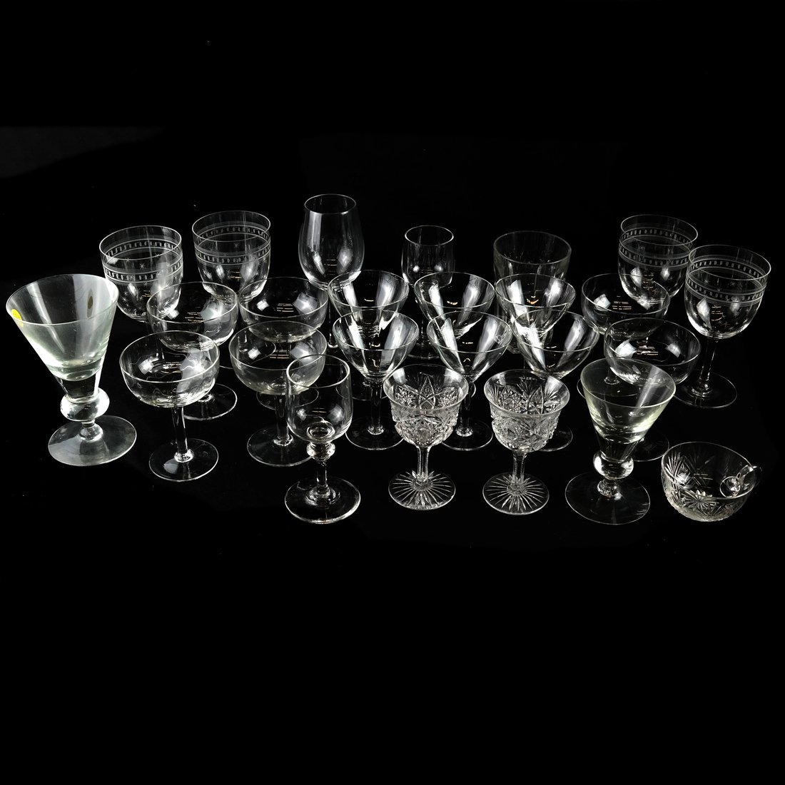 25 Various Glass Stemware