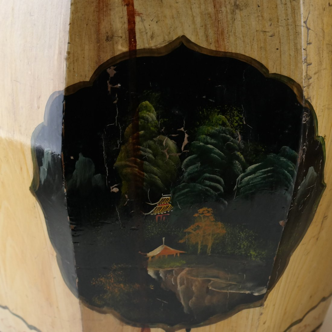 Pair of Octagonal Wood Garden Seats - 8