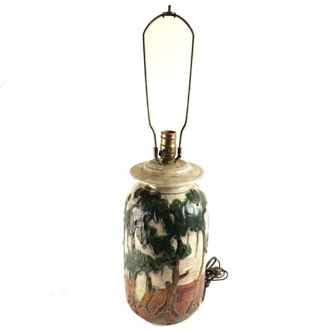 Charles Bohn Ceramic Lamp - 5