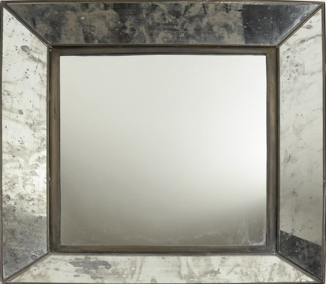 Pair of Metal Framed Mirrors - 2