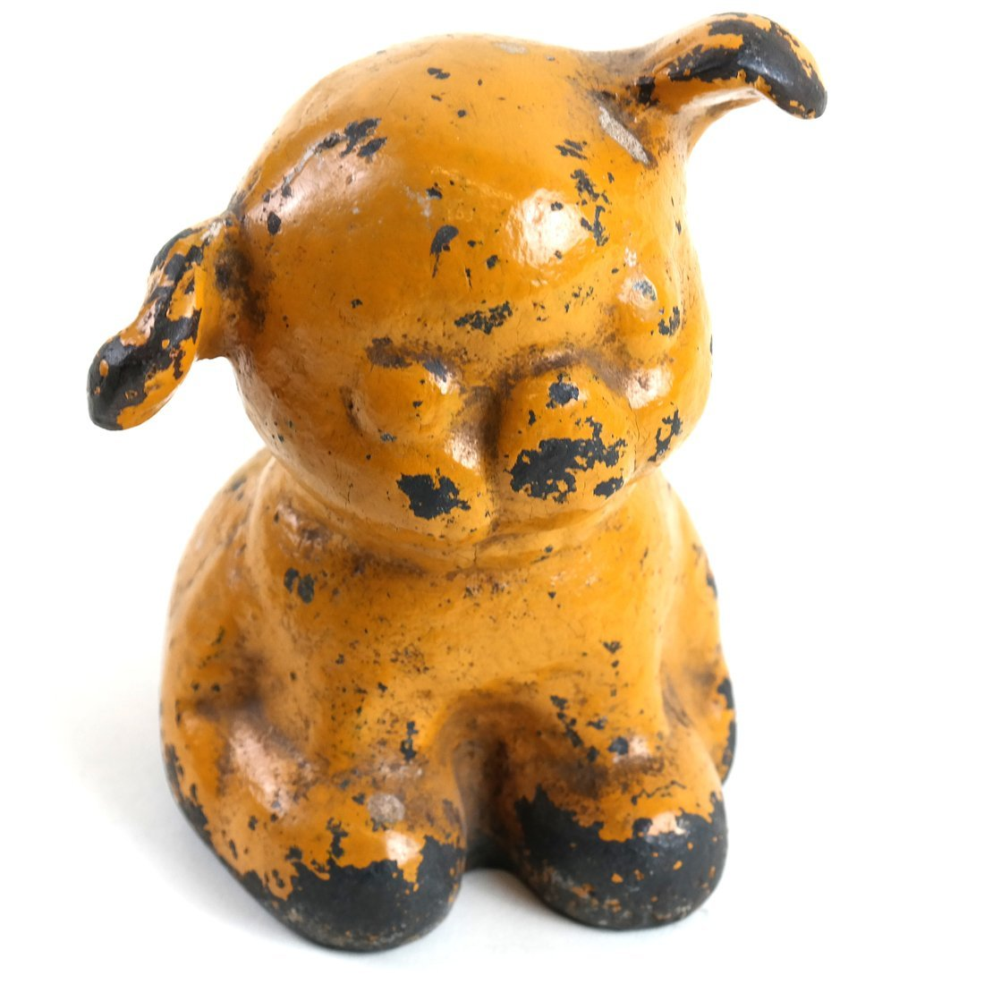 Painted Cast Iron Puppy Figure