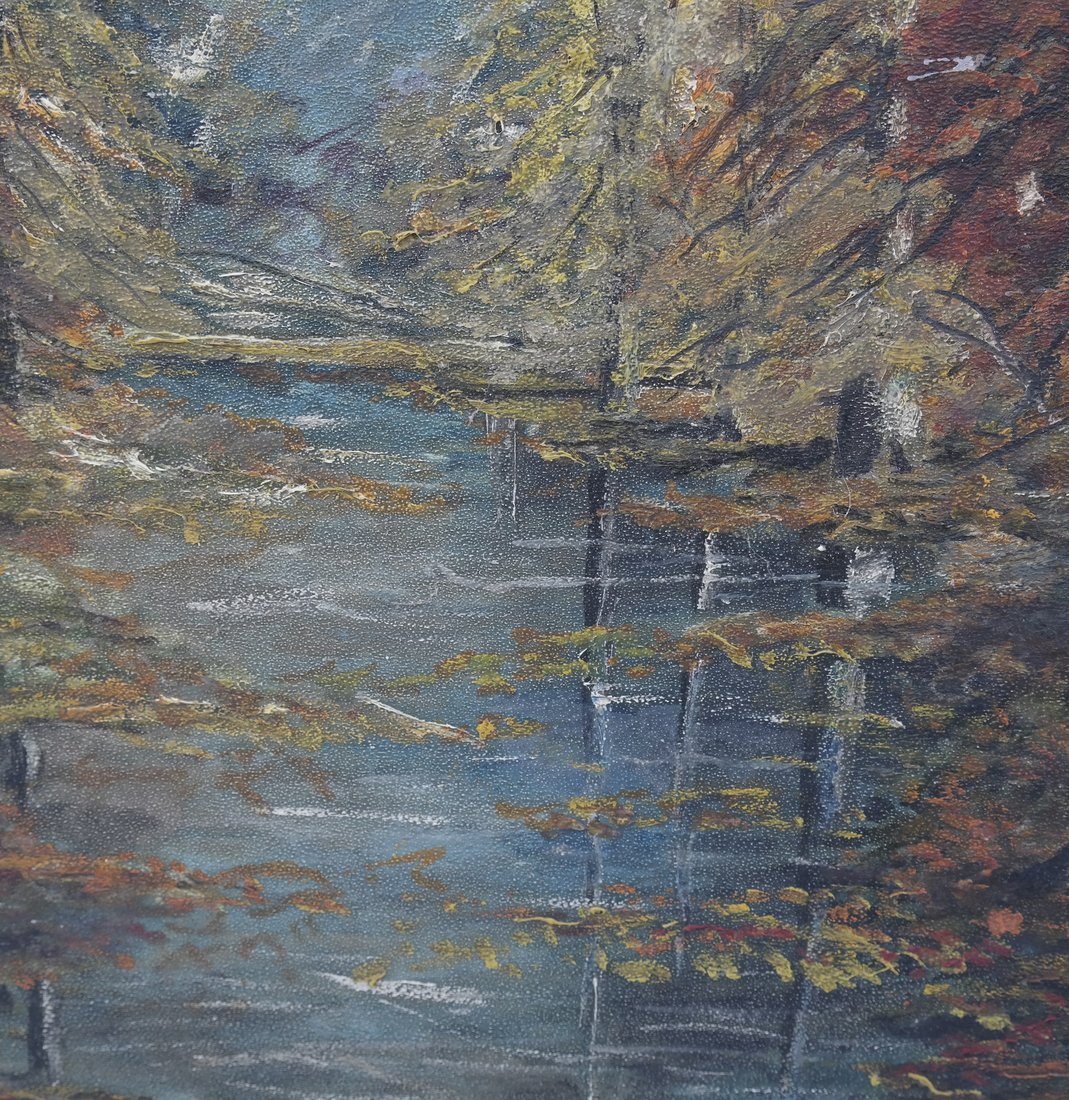 Fall Riverscape, Oil on Panel - 4