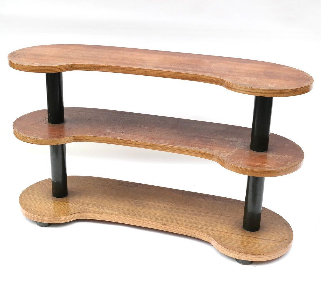 Modern Kidney-Form Three Tier Table