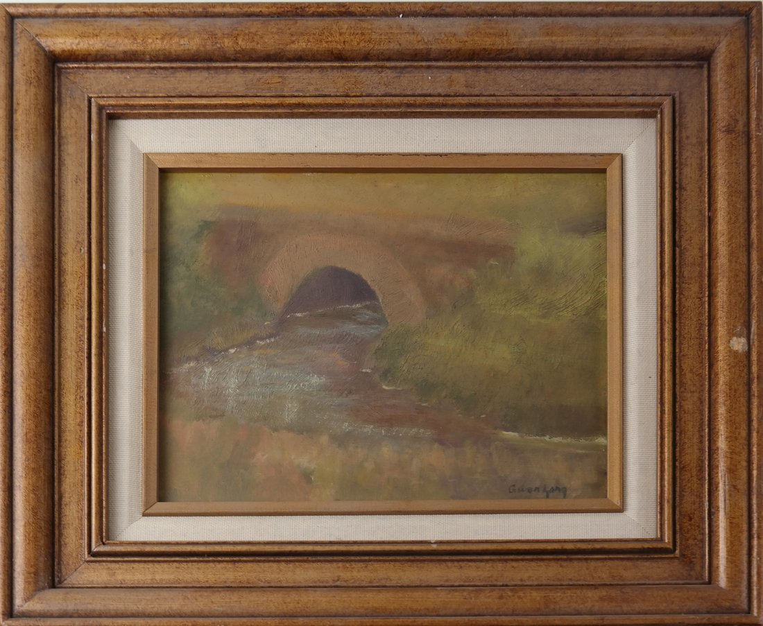 Gwen Long, A Bridge & Stream - 2