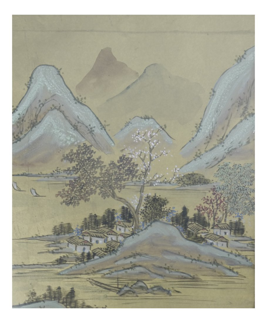 Set of 6 Chinese Colored Prints, Framed - 10