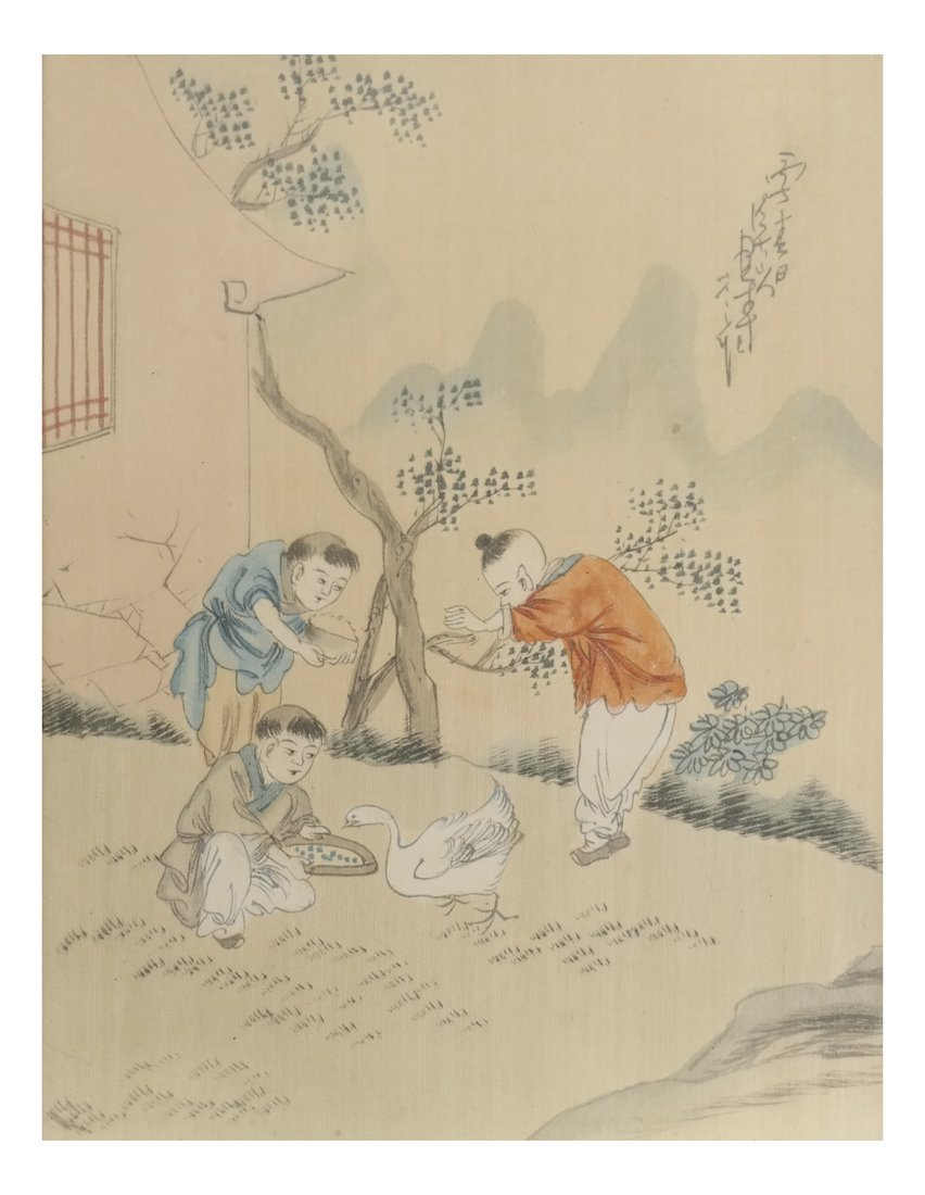 Set of 6 Chinese Colored Prints, Framed - 3