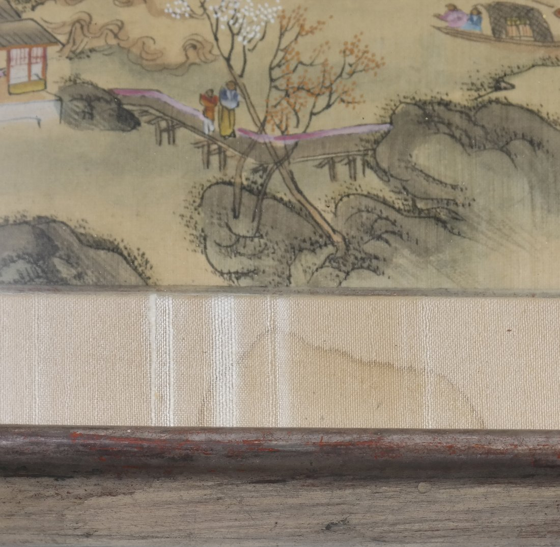 Set of 6 Chinese Colored Prints, Framed - 4