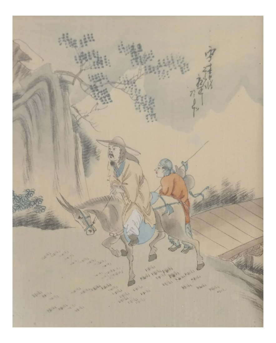 Set of 6 Chinese Colored Prints, Framed - 7