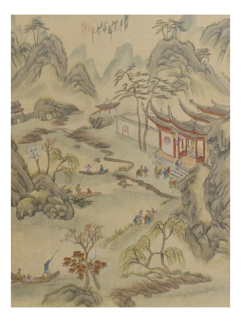 Set of 6 Chinese Colored Prints, Framed - 8
