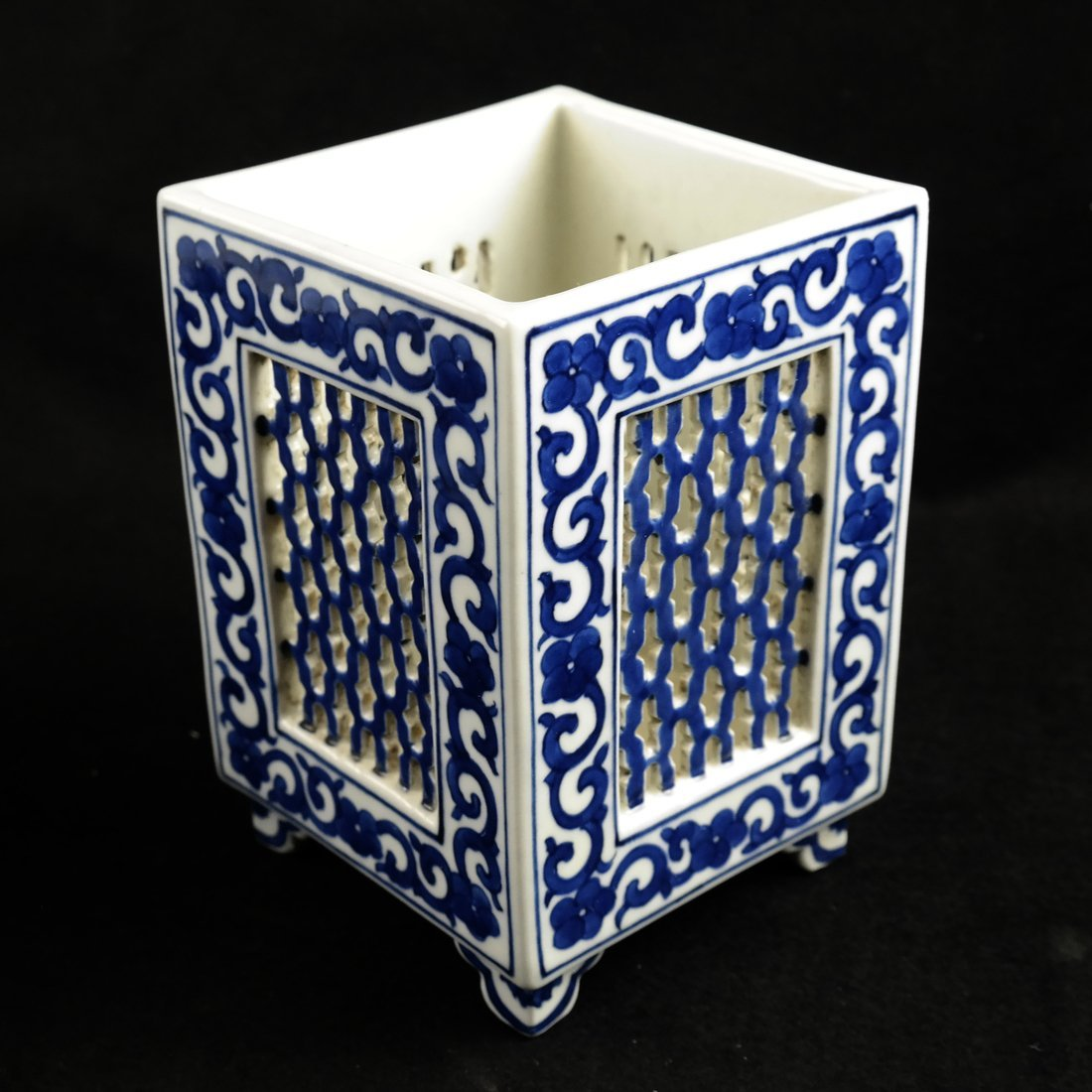 Two Asian Blue & White Decorated Objects - 2