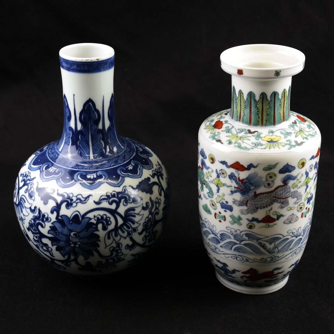 Two Various Asian-Style Vases