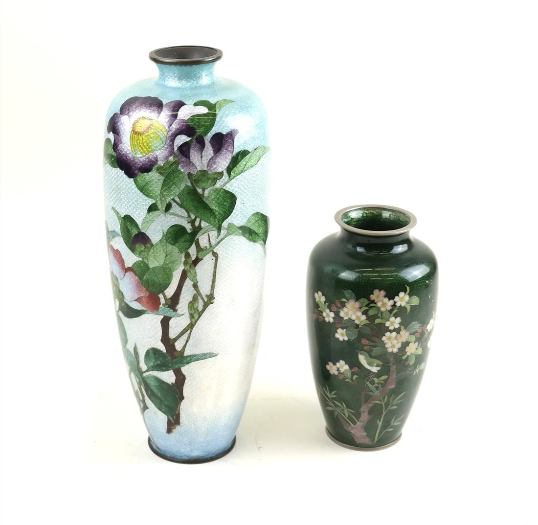 Two Various Asian Cloisonne Vases