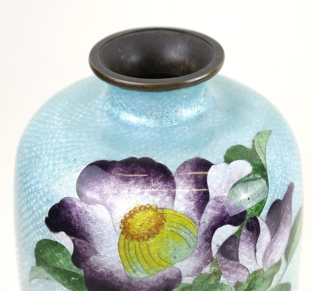 Two Various Asian Cloisonne Vases - 4