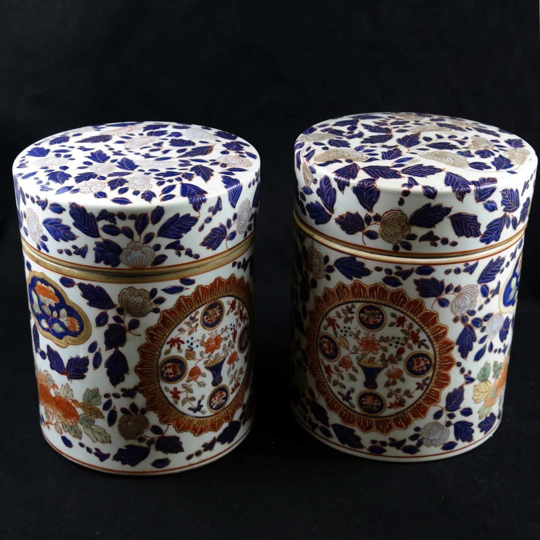Pair of Chinese Porcelain Canisters