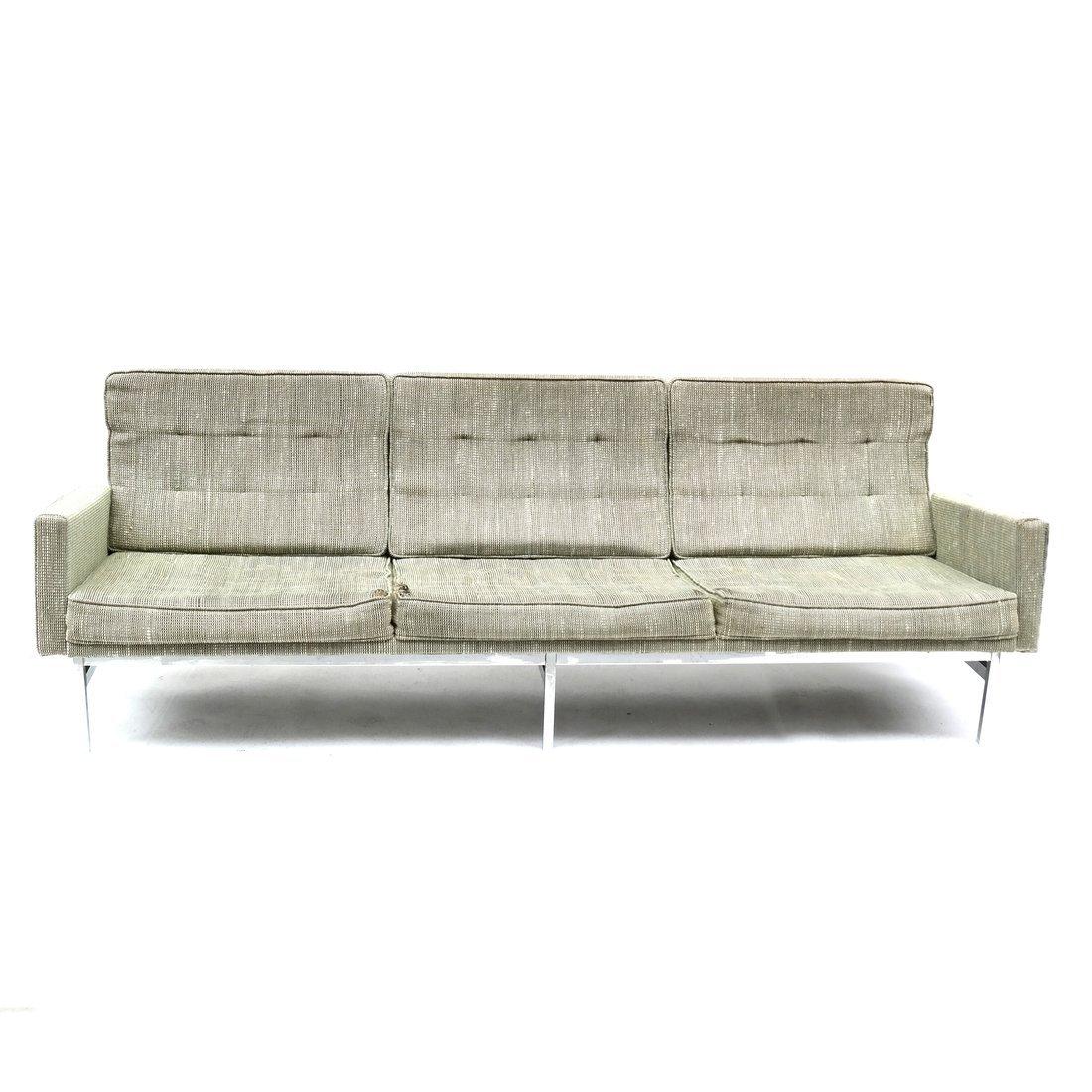 Knoll Green Upholstered Sofa