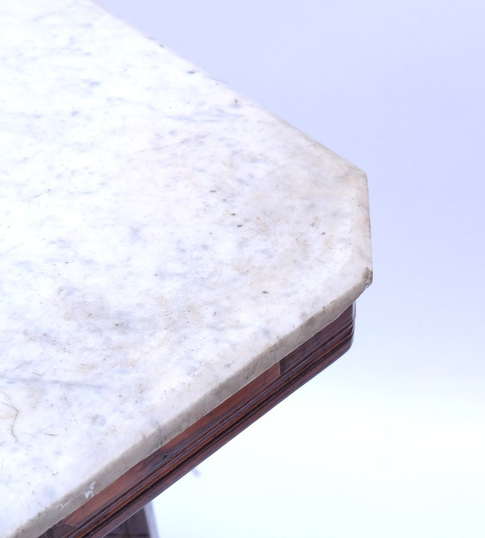 Victorian Marble-Top Side Table - 3