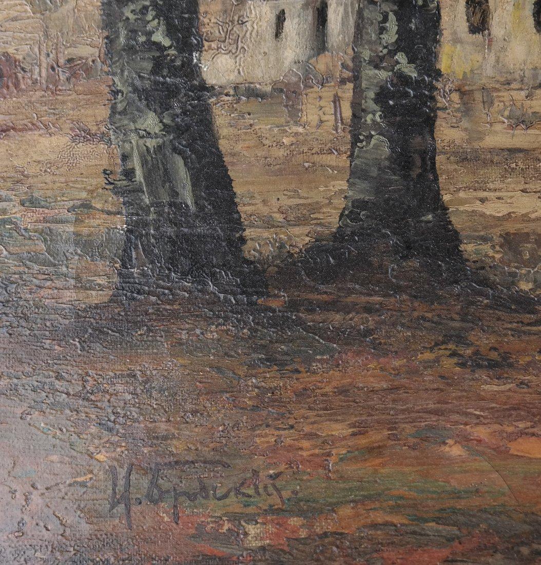 Stark Landscape Scene, Oil on Canvas - 3