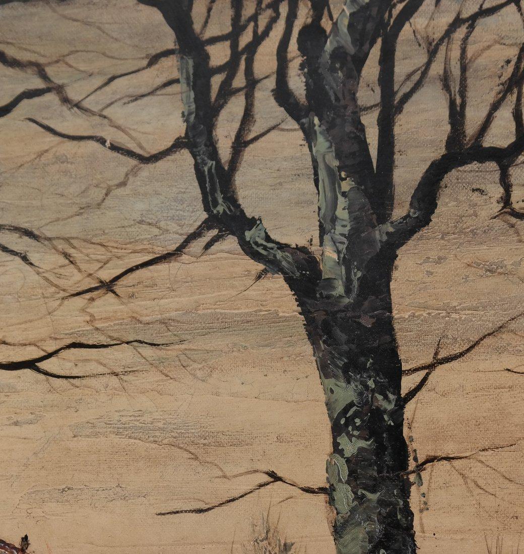 Stark Landscape Scene, Oil on Canvas - 4