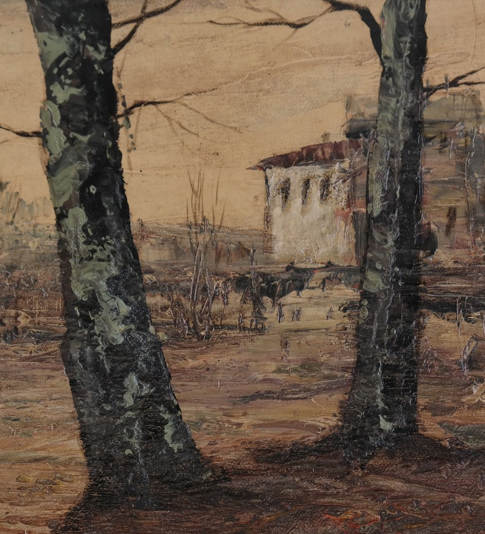 Stark Landscape Scene, Oil on Canvas - 6