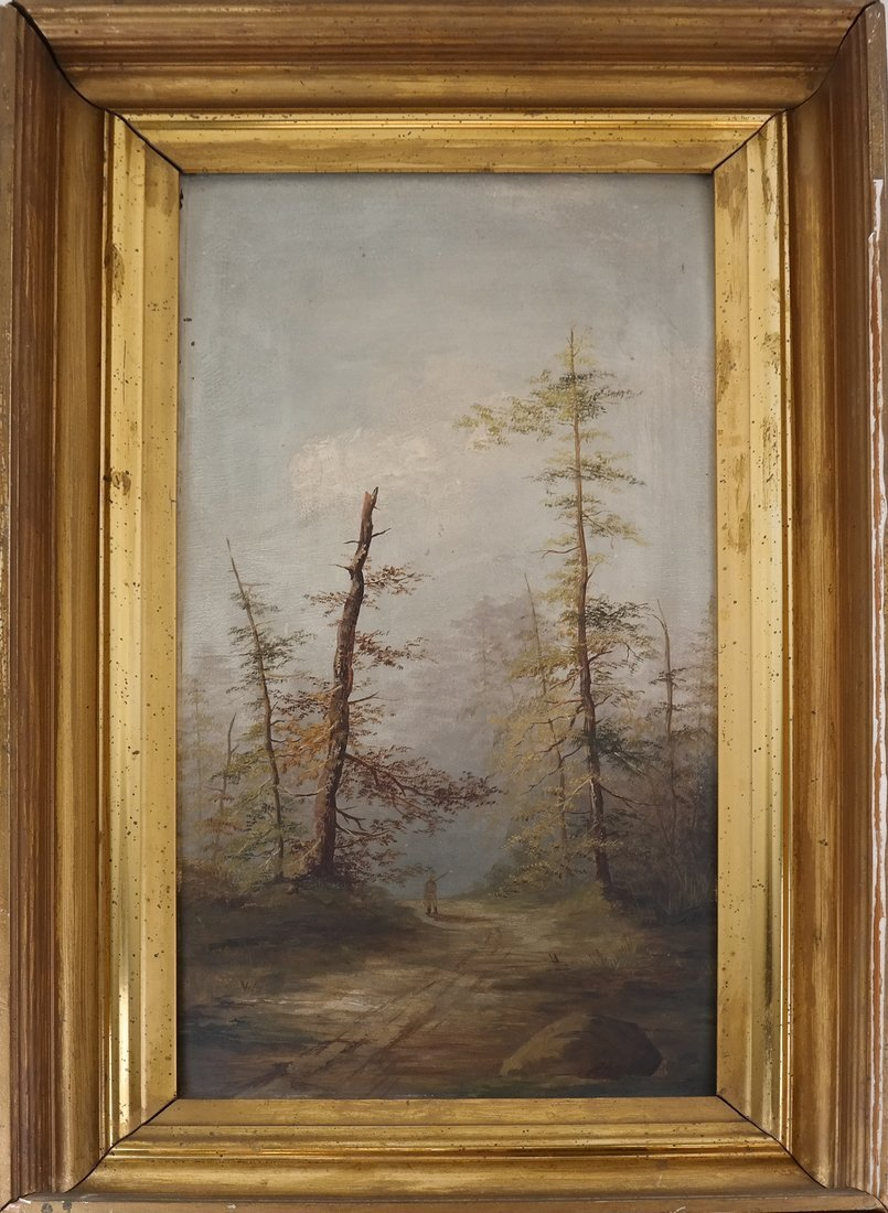 Landscape With Trees, Oil on Panel - 2