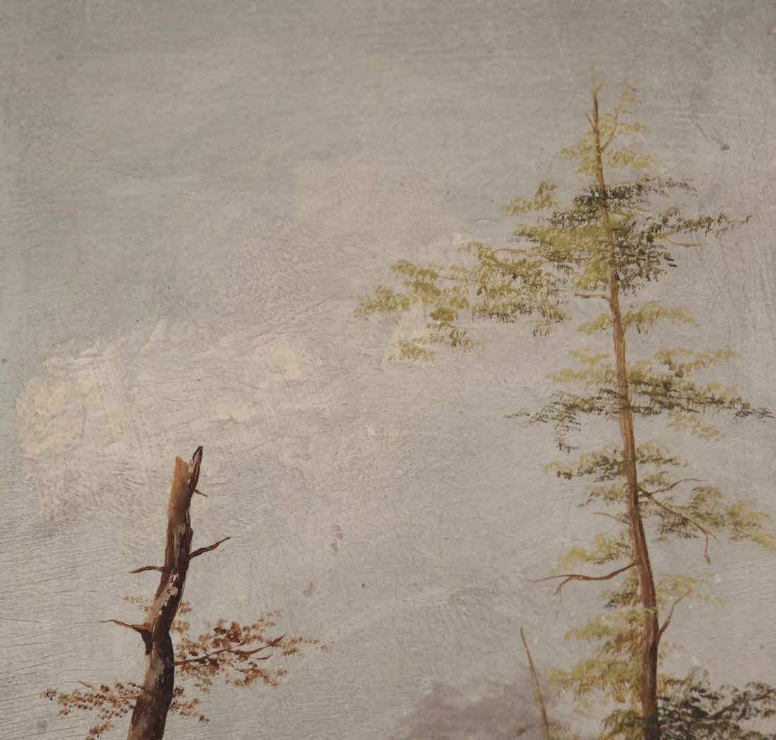 Landscape With Trees, Oil on Panel - 4