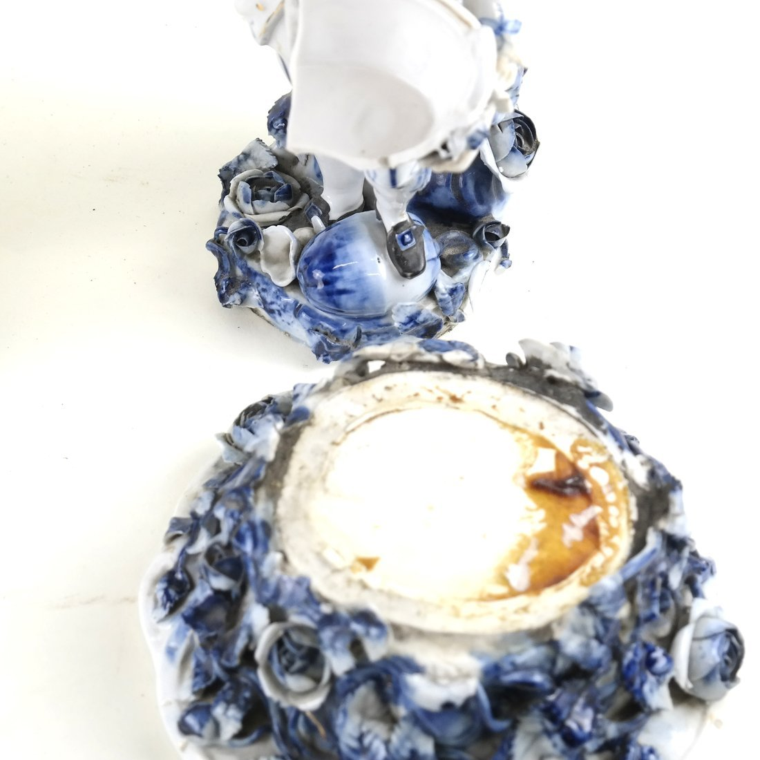 8 Asst. Blue and White Decorated Objects - 3