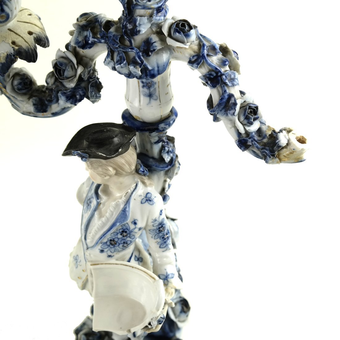 8 Asst. Blue and White Decorated Objects - 4