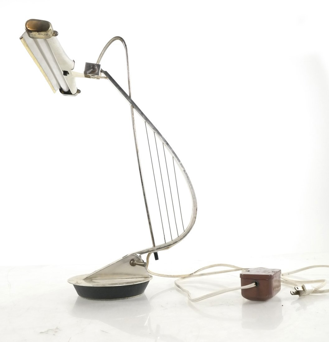 Harp-Form Table Lamp