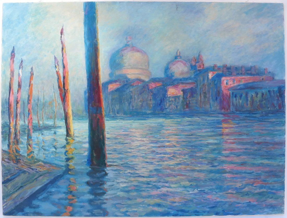 Impressionist-Style Canal Scene - 2