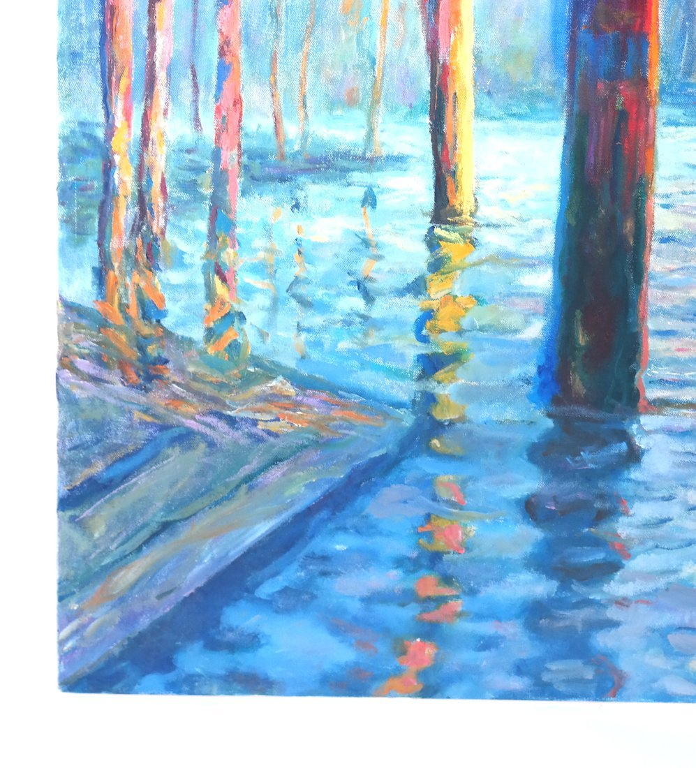 Impressionist-Style Canal Scene - 5