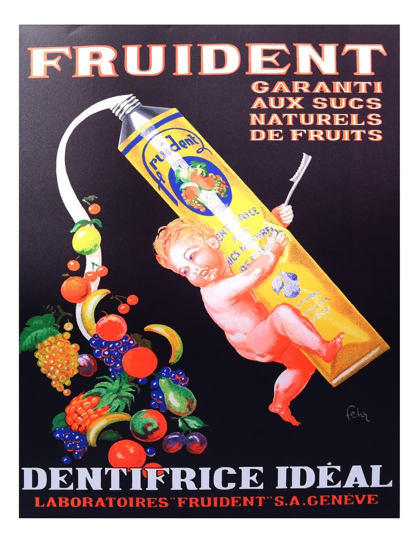 Fruident Advertising Poster