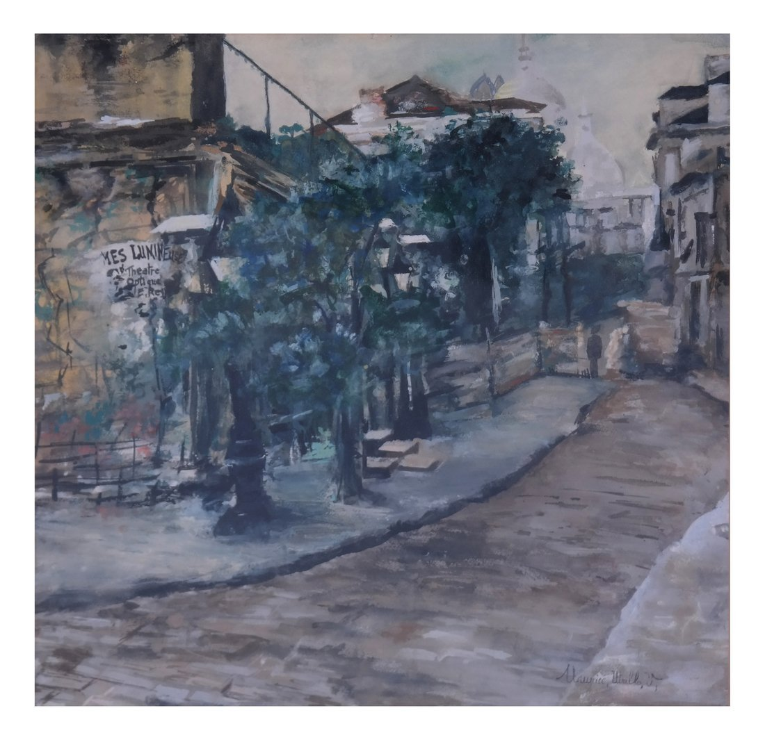 After Maurice Utrillo. Street Scene