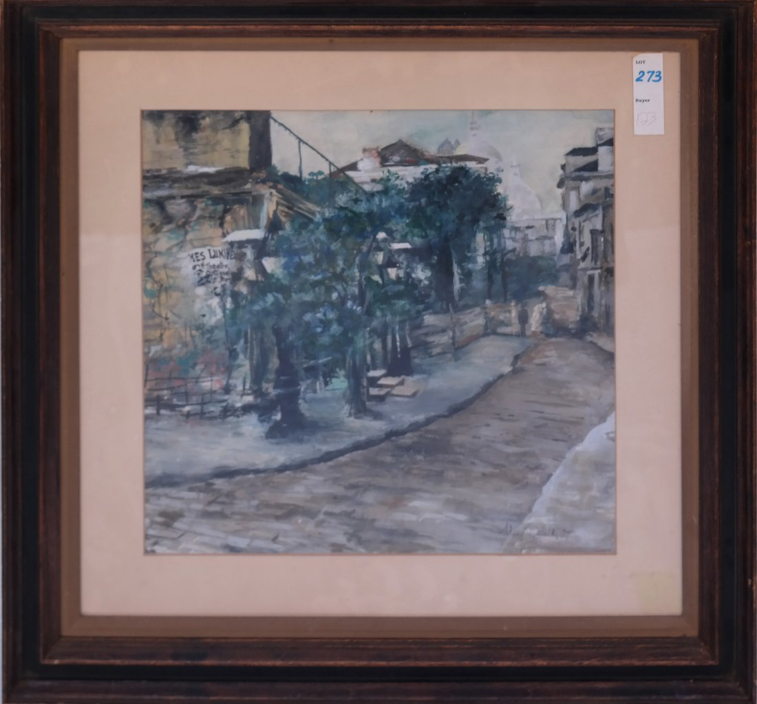 After Maurice Utrillo. Street Scene - 2