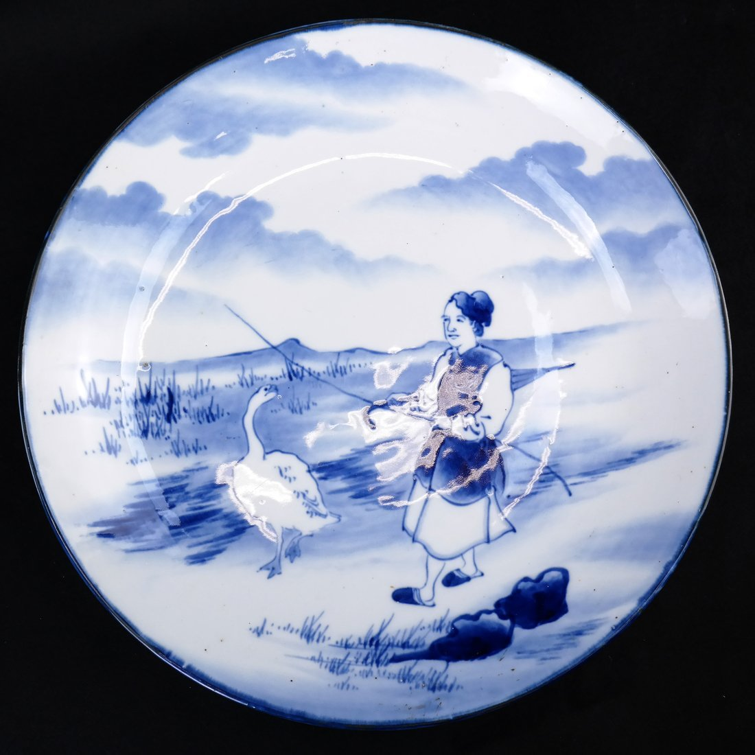 Two Japanese Porcelain Chargers - 2