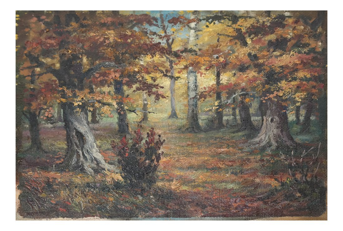 Wooded Landscape, O/C, On Panel