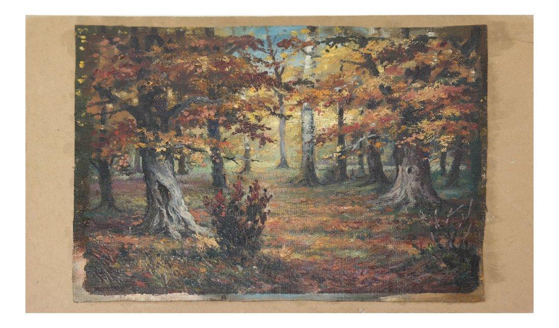 Wooded Landscape, O/C, On Panel - 2