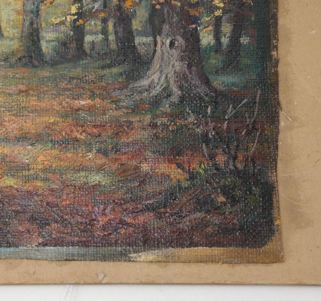 Wooded Landscape, O/C, On Panel - 3