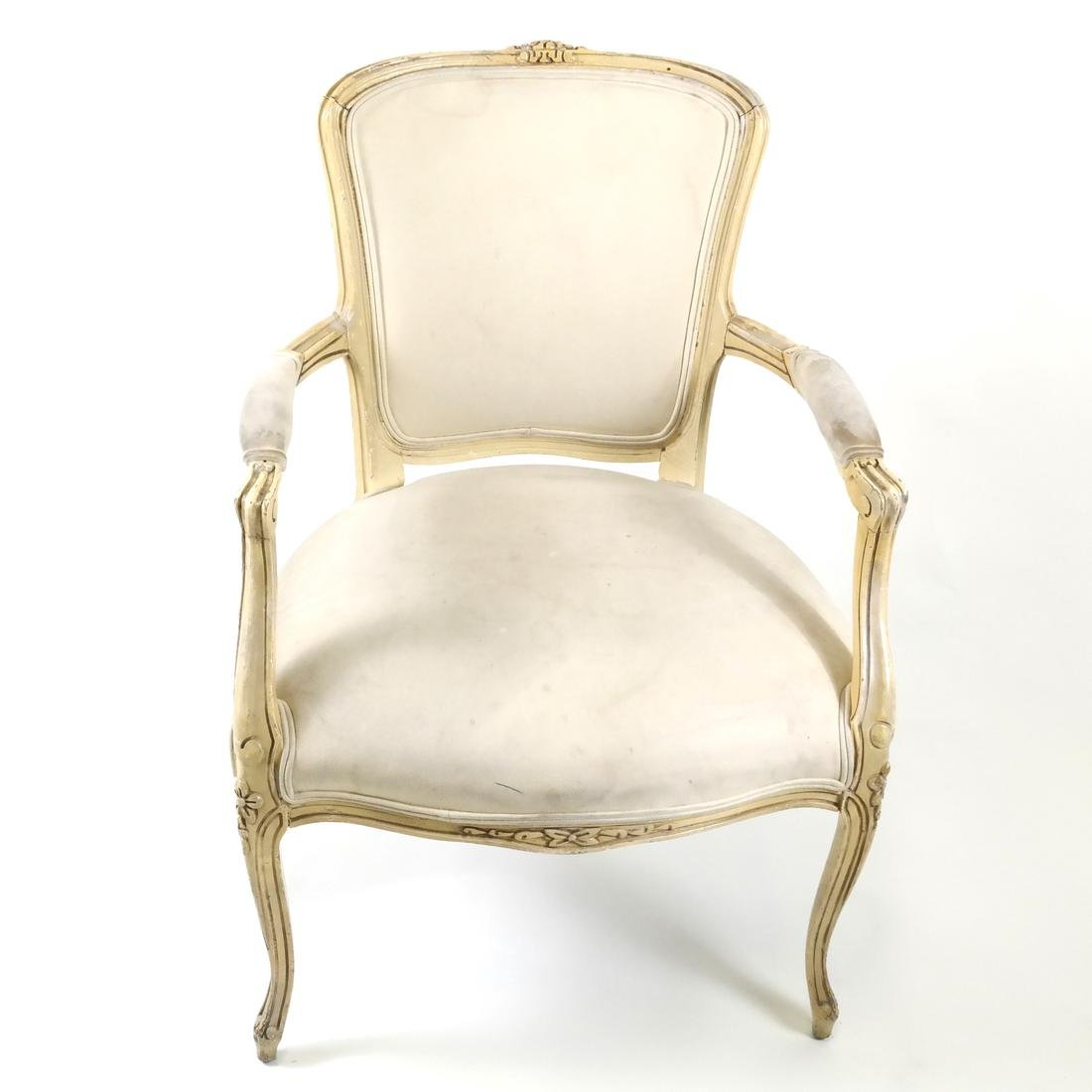 French-Style Painted Armchair - 2