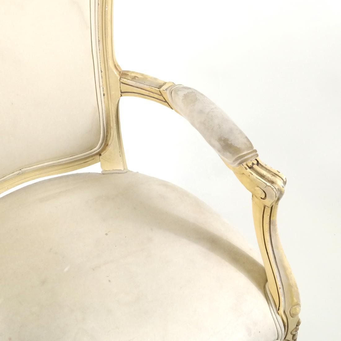 French-Style Painted Armchair - 3
