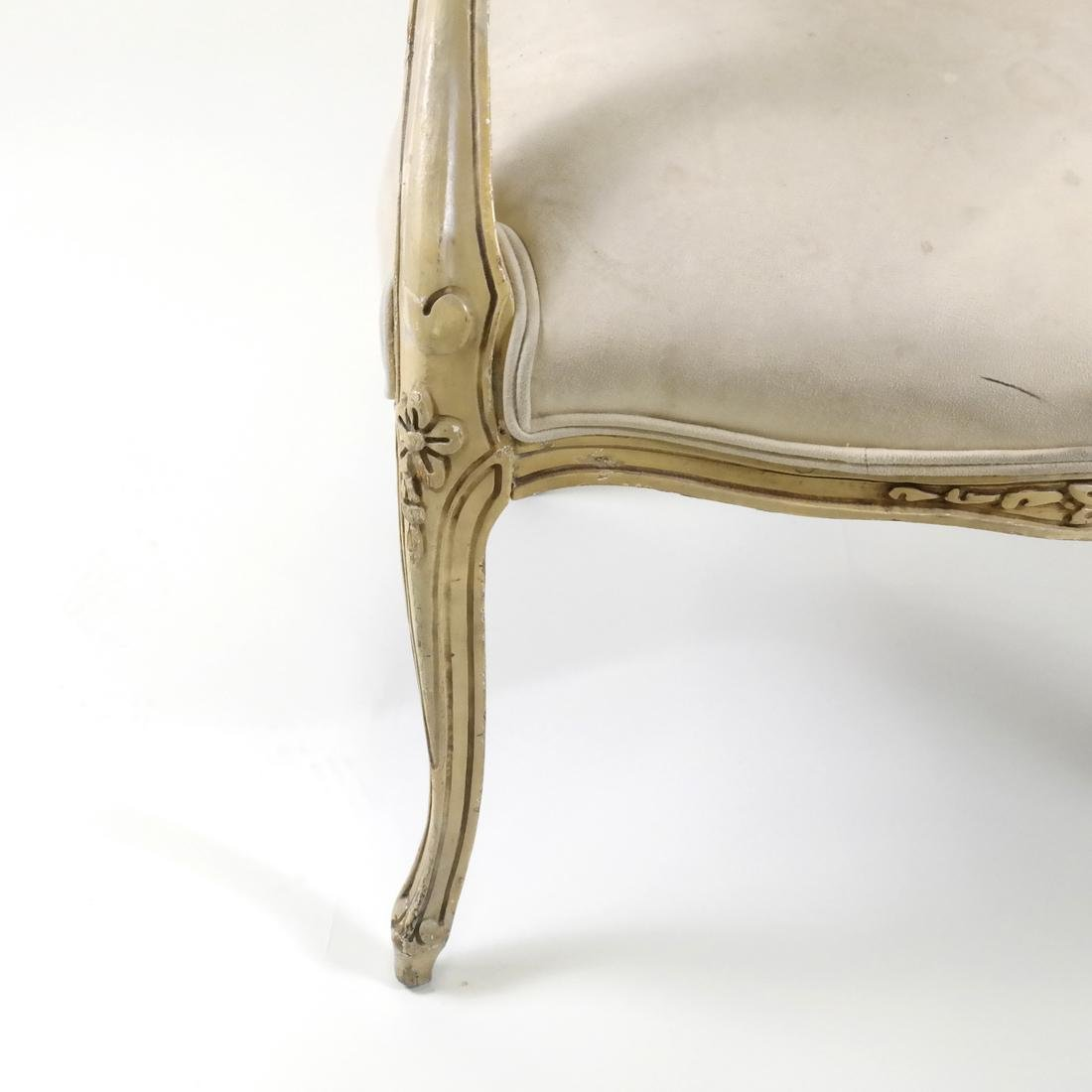 French-Style Painted Armchair - 4