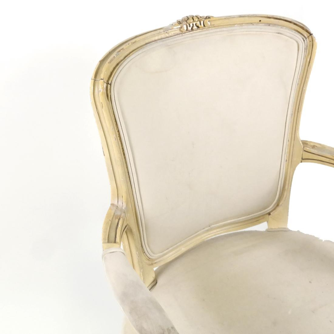 French-Style Painted Armchair - 5