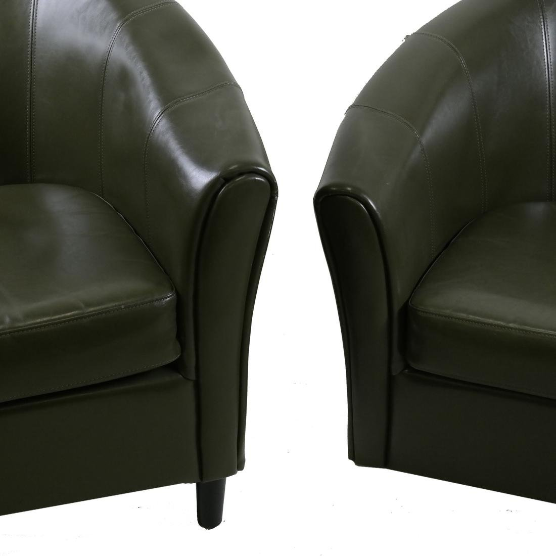 Pair of Green Club Chairs - 2