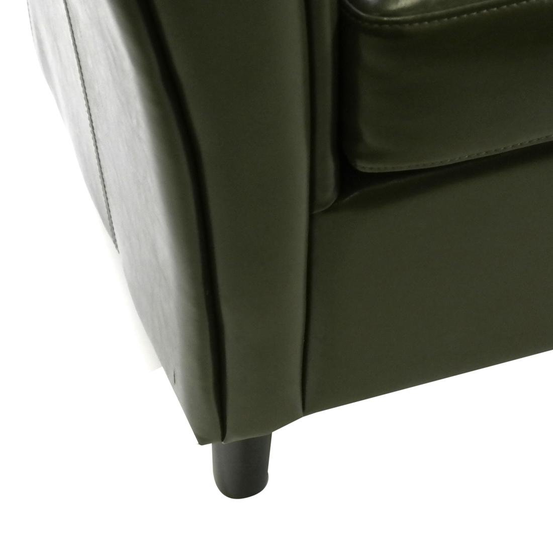 Pair of Green Club Chairs - 4