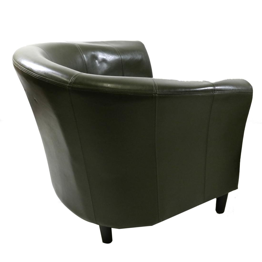 Pair of Green Club Chairs - 5