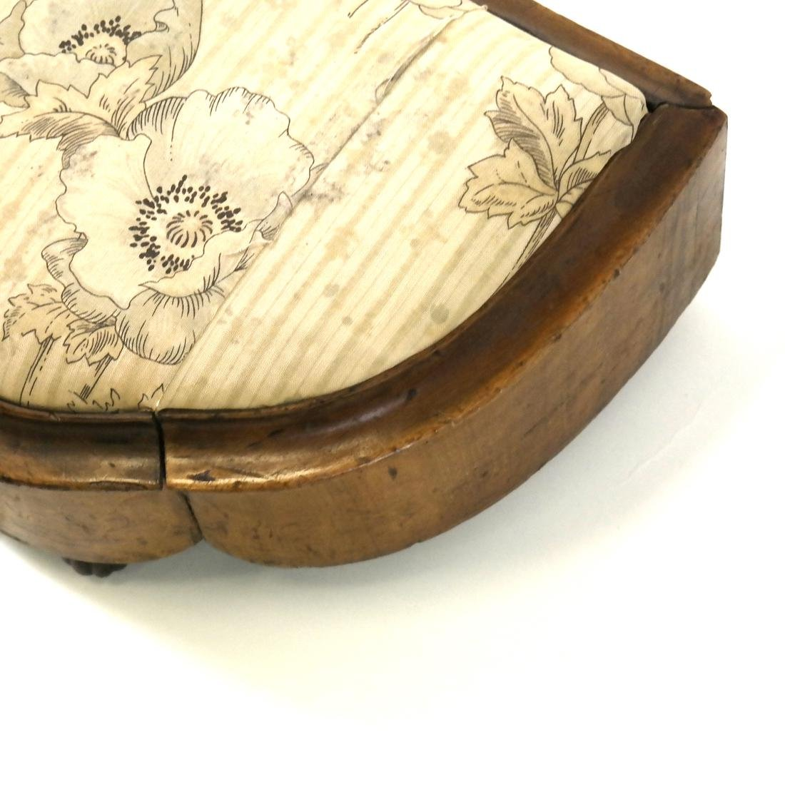 19th Century Marquetry Stool - 5