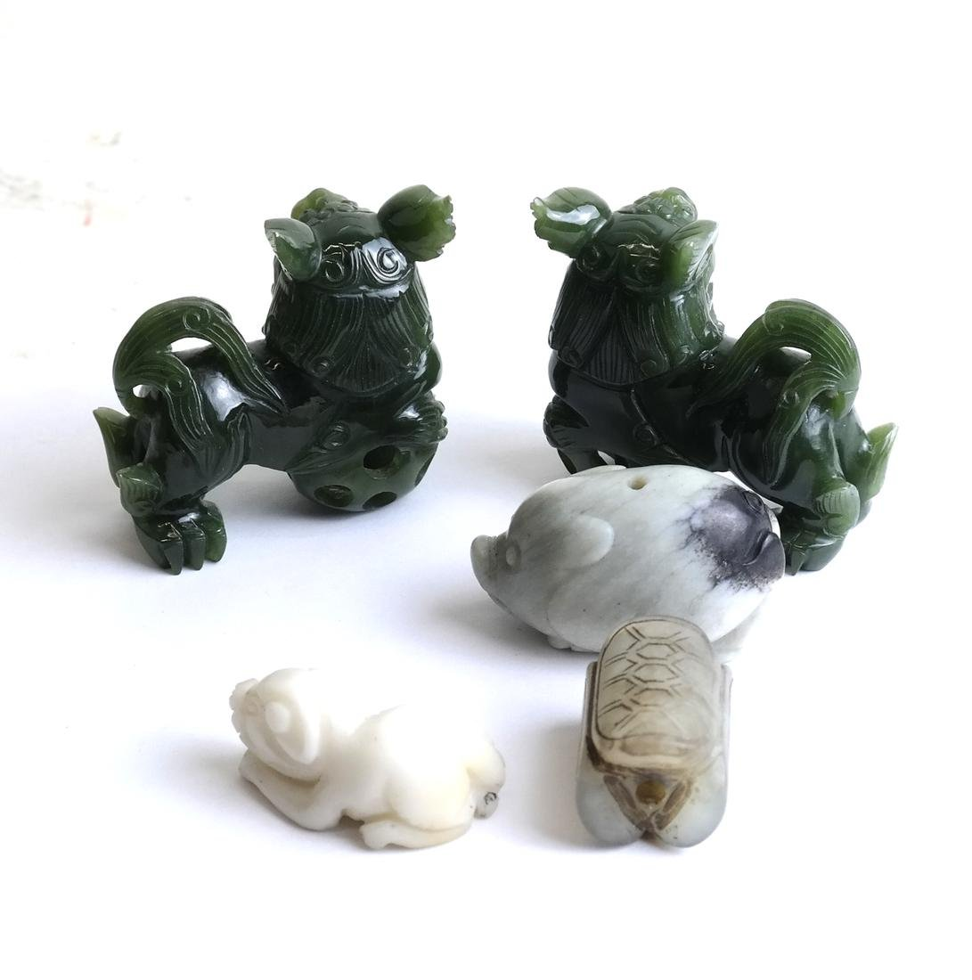 Five  Chinese Jade & Hardstone Articles - 7